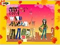 Herbst-Postkarte-Dress up Spiel